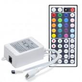 LED Infrared Controller Box DC12V 72W 6A 44 Keys LED IR Remote RGB Controller for LED Strip Mini RGB LED Strip Light Controller