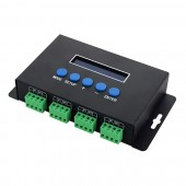 5-24V 4CH Ethernet-SPI/DMX LED Pixel Light Controller Support IC 2811/2801/6803