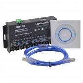 LED RGB Controller 12 Channels Dynamic Scanning DIY-USB 12-24V