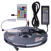 WS2811 RGB LED Strip Light 16.4ft 30LEDS/M + Controller + Adapter