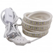 208LED/M LED Strip AC220V 2835SMD Double Row LED Light+3M Cable EU Power Plug With On-OFF Switch