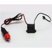 12V Cigarette Driver / Inverter Car Vehicles' Accessories For Up To 5Meters LED Neon Glow EL Wire Tape