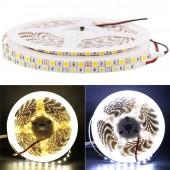 Super Bright DC 12V 5M Flexible 5050 SMD 5MM  Wide Fita LED Strip Light 84Leds/M Ribbon Tape Lamp White