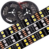 Double Row RGB LED Strip SMD 5050 120LEDs/m Light 5meter/Lot DC12V