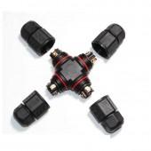 LLT L20 4T Solderless Connector 2 3 4 pin Waterproof IP67 No soldering LED Power Connector Screw Fixing outdoor 4-way connector