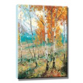 Tree Hand Painted Oil Painting with Stretched Frame Wall Art 24 x 36 Inch