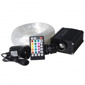 APP RF remote 16W Fiber Optic Star Ceiling Light Kit with LED illuminator 3 meter 0.75mm endlit optical fiber end fixture