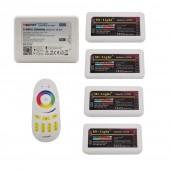 MiBoxer RGBW LED Controller 12v 10a FUT038 + FUT096 2.4G Wireless 4-Zone RF Touch Remote + WL-Box1 Wifi For RGBWW RGBW Led Strip