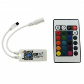 Mini Wifi LED RGB / RGBW Controller DC9-12V With 24 Key IR Remote Controler For 5050 RGB / RGBW LED Strip Light