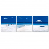 3 Pieces Modern Blue Seascape Canvas Print Tropical Hawaii Beach 24 x 24 Inch x3pcs