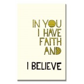 In You I Believe Modern Canvas Print Motivational Words for Life Giclee Print on Canvas 16 x 24 Inch