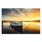 Landscape BoatModern Canvas Print Giclee Print on Canvas 24 x 36 Inch