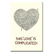 This LOVE Is Compliacted Modern Canvas Print Motivational Words for Life Giclee Print on Canvas 16 x 24 Inch