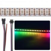 WS2812B LED Strip 5050 RGB 30 60 144 LEDs/M Addressable Programable Light