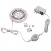 Motion Activated Sensor Bed Light 1.2M LED Strip Sensor Night Light 12V Cabinet Light With Automatic Shut OFF Timer