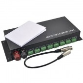 3CH *8 Way 24 Channel 12-24V LED RGB DMX512 Decoder Controller