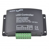 DC 12-24V 12A Sound Activated Music Controller With Remote Control 144W 2 Ports