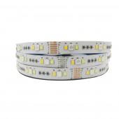 New 5M 5050+2835 RGB CCT led Strip Light RGB Color Temperature adjustable string RGB+CCT 12V/led tape 12MM PCB