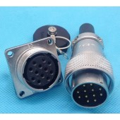 Original Weipu Connector WS24 TQ + Z 2 3 4 9 10 12 19 Pin Male Sleeve Cable Plug Female Square Flange Panel Mount socket