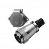 Original Weipu Connector WS40 TQ + ZG 5 9 15 26 31 Pin Male TQ Sleeve Cable Plug Female ZG 2 Hole Flange Panel Mount Socket