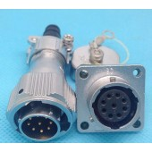 Original Weipu Connector WY20 TI + Z 2 3 4 5 7 9 12 Pin TI Male Sleeve Cable Plug Female Z Square Flange Panel Mount Socket