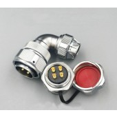 Original Weipu Connector WY20 TU + ZM 2 3 4 5 7 9 12 Pin TU Male Angled Clamping Cable Plug ZM Female Round Flange Panel Socket