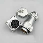 Original Weipu WY24 Connector TE + Z 2 3 4 9 10 12 19 Pin TE Male Clamping Cable Plug Female Square Flange Panel Mount Socket