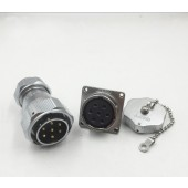 Original WEIPU WY28 Connector 2 3 4 7 10 12 16 17 20 24 26 Pin IP67 TE Clamping Cable Male Plug Female Square Flange Socket