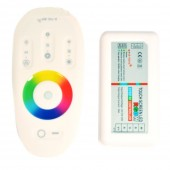 2.4G RGB/RGBW LED Controller 4Channels 24A 12-24V Touch Screen Remote Control