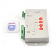 T1000S LED RGB Full Color Programmable Pixel Controller With SD Card DC5V DC 7.5V 24V