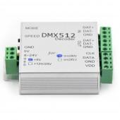 DMX512 Controller SK6812 WS2801 DMX Pixel SPI Converter RGB Decoder