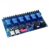 6CH Relay Switch Dmx512 Controller RJ45 XLR 6 Way WS-DMX-RELAY-6CH-30A