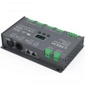 DMX to PWM Decoder 12CH (XLR-5, RJ45) CV LT-912-OLED LTECH