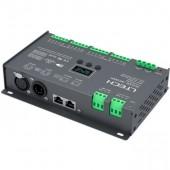 DMX to PWM Decoder 16CH (XLR-5, RJ45) CV LT-916-OLED LTECH
