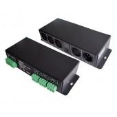 LTECH DIN Rail DMX Signal Amplifier LT-123 DMX512 Controller