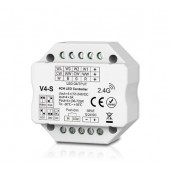 Skydance Led Controller 4CH*3A 12-24VDC Controller, Flush or Surface Mounting V4-S