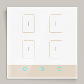 Ltech TK-RF04-A Smart Wall Switch(L/N) Home Intelligent Control Panel