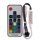 R109-K DC5~24V 12A 433.92MHz RF Wireless Card Type RF Remote Mini LED RGB Controller w/ DC Female Jack for led RGB strip light
