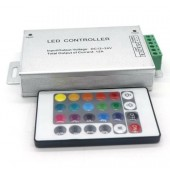 LED RGB IR Controller 12-24V Option 24Keys 12A Used For LED RGB Strips