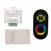 DC 12V 24V 3*6A 18A Aluminum LED RGB Touch Controller RF RGB LED Lamp Controller 5Key Wireless RF Dimmer Touch Control