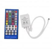 3 Pcs RGBW LED controller 40 keys IR DC12-24V input 2A*4 channel output For 5050 RGBW RGBWW LED Strip
