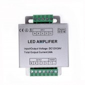 RGBW /RGB LED Amplifier DC12 - 24V 24A 4 Channel Output RGBW/RGB LED Strip Power Repeater Console Controller