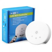 Round UFO Shape RGBw LED Wifi Smart App Controller Compatible with Google Home & Amazon Alexa Music Control Group Division