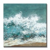 Sea Wave Hand Painted Oil Painting With Stretched Frame Wall Art 24 x 24 Inch