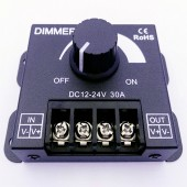PWM Dimming Controller DC 12V-24V 30A Dimmer Knob ON/OFF Switch