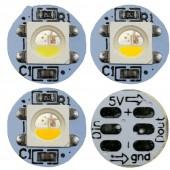 SK6812 RGBW 5050 Individually Addressable Digital LED Chip Pixel (RGB+White/Warm/Nature) 5V mini PCB board (10mm*3mm) Heatsink