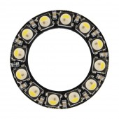 7 Bits LEDs SK6812 WS2812B 5050 RGB+White LED Ring Light Integrated Module 5V 2Pcs