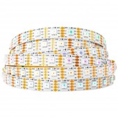 SK9822(Similar to APA102) RGB 60LEDS/M DC5V 10MM-Wide Digital Intelligent Addressable LED Strip Lights - 5m/16.4ft per roll