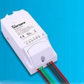 Sonoff TH10 TH16 Wifi Switch Si7021 Temperature Humidity Sensor ABS Remote Control 16A