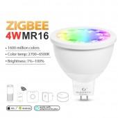 Smart Home Zigbee Voice Control 4W Mr16 Bulb DC 12V RGB+CCT LED Spotlight